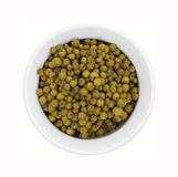 Green Peppercorns Ceramic Dish Stock Images