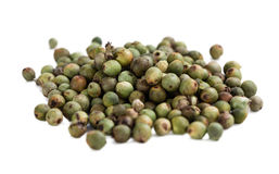 Green Peppercorns (isolated on white). Some Green Peppercorns isolated on white background stock photos
