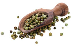 Green Peppercorns (isolated on white). Some Green Peppercorns isolated on white background stock images