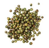 Green Peppercorns (isolated on white). Some Green Peppercorns isolated on white background royalty free stock photos