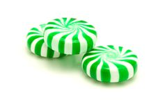 Green Peppermints Stock Photo