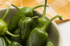 Green peppers. Stock Photo
