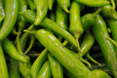 Green peppers as backgouund Stock Photography