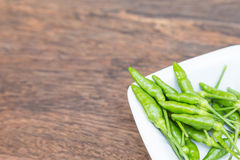 Green peppers in close up Royalty Free Stock Images