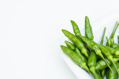 Green peppers in close up Stock Images