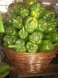 Good quality green peppers stock photography