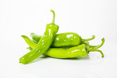Green peppers heap Stock Image