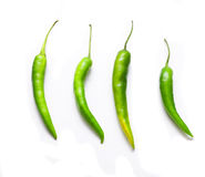 Green peppers isolated Royalty Free Stock Images