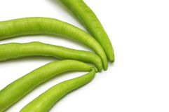 Green peppers isolated. On the white background Stock Image