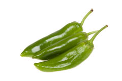 Green peppers isolated. Healthy food. Fresh vegetables Stock Photos