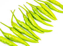 Green peppers. Isolated on white Stock Images