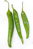 Green peppers isolated Royalty Free Stock Photos