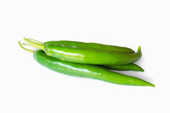 Green peppers isolated on white. Background royalty free stock photos