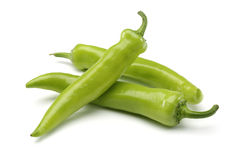 Green peppers. Isolated on a white background Stock Photography