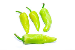 Green Peppers isolated on white background. This has clipping path Royalty Free Stock Images