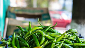 Green Peppers. At the Market Stock Images