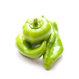 Green peppers pile Stock Images