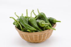 Green peppers. Pimientos del Padron. Royalty Free Stock Photos