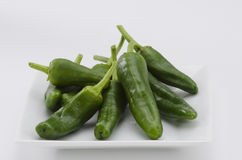 Green peppers. Pimientos del Padron. Stock Images