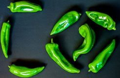 Green peppers for poster. Green peppers placed to be on a poster and put letters or not in the defense of vegetarianism Royalty Free Stock Photography