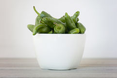 Green peppers pot Royalty Free Stock Images