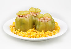 Green peppers stuffed Stock Photography