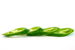 Green peppers. On white background Royalty Free Stock Photography