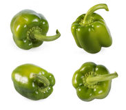 Green peppers on white stock photography