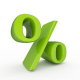 Green percentage sign Stock Image