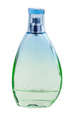 Green perfume bottle Stock Photos