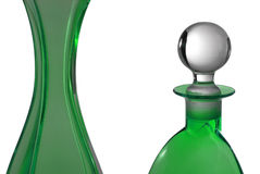 Green perfume bottles Royalty Free Stock Images