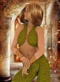 Green Persian dancer Stock Image