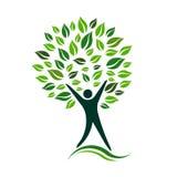 Green Person Tree Vector Icon illustration vector illustration