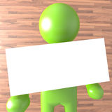 Green Person with white Blank Stock Photos