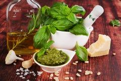 Green pesto. Royalty Free Stock Photo