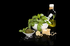 Green pesto. Royalty Free Stock Images
