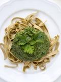 Green pesto Stock Photos