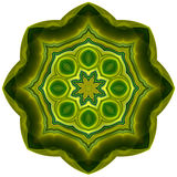Green petal mandala Stock Images
