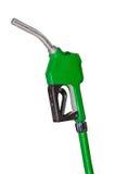 Green petrol gun isolated Royalty Free Stock Photos