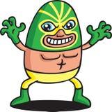 Green Phantom Wrestler Stock Photography