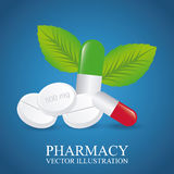 Green pharmacy design Royalty Free Stock Images