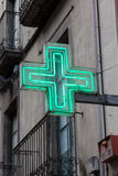 Green pharmacy sign Royalty Free Stock Photos