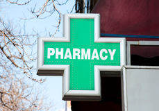 Pharmacy sign Stock Image