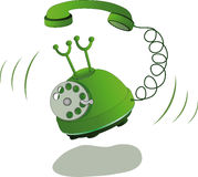 Green phone. And call  technology Stock Photography