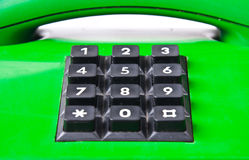 Green phone Royalty Free Stock Photos