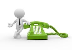 Green phone stock illustration