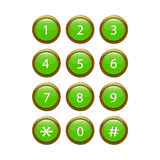 Green Phone Keypad Royalty Free Stock Photo
