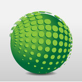 Green phosphorescent ball with floating points Royalty Free Stock Photos