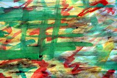 Abstract paint, green, yellow, watercolor, shades, background Stock Image