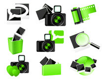 Green photo icons Stock Image
